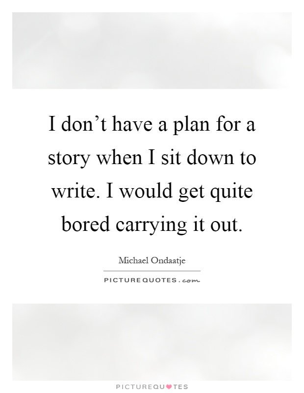 how to write a story plan