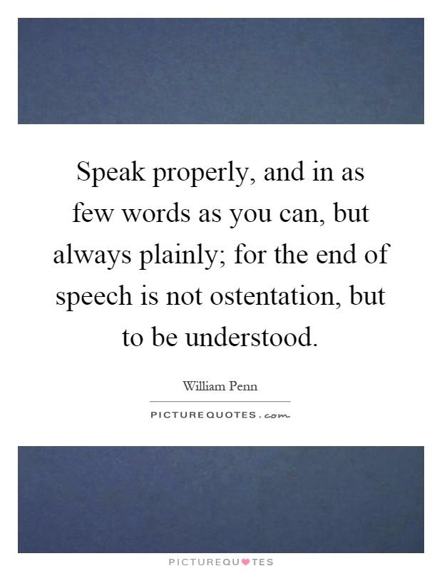not to speak of