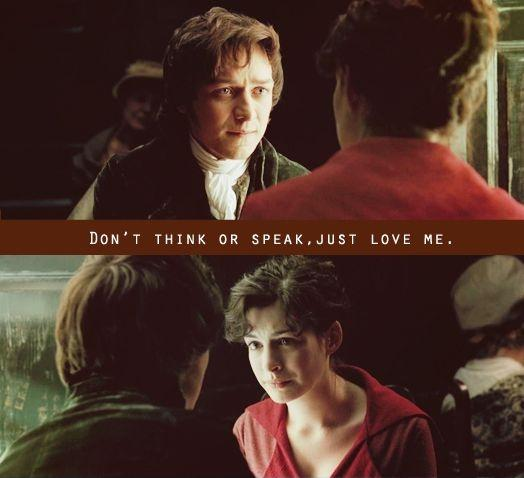 Don't think or speak, just love me Picture Quote #1
