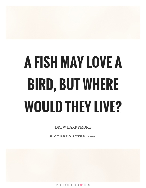 A fish may love a bird, but where would they live? Picture Quote #1