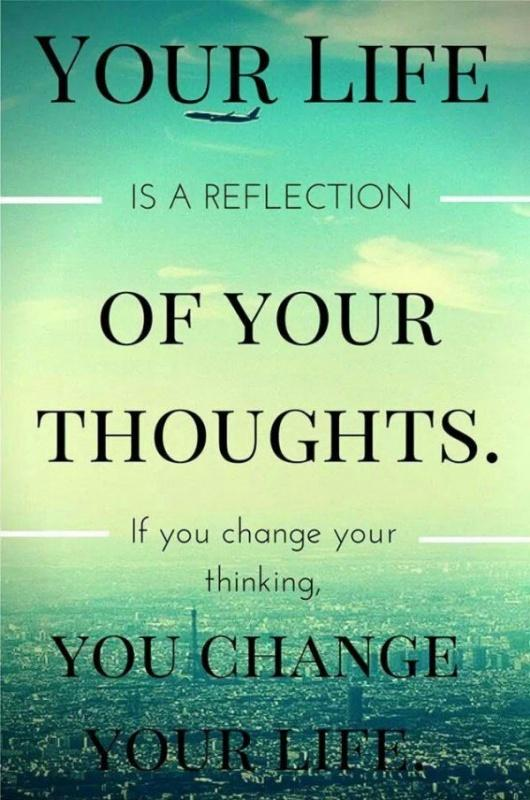 Your life is a reflection of your thoughts. If you change your thinking, you change your life Picture Quote #1