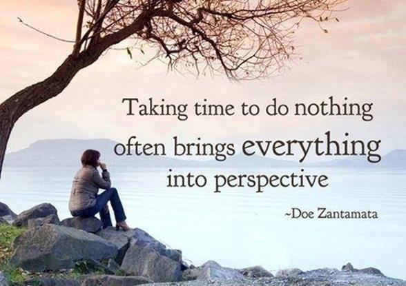 Taking time to do nothing often brings everything into perspective Picture Quote #1