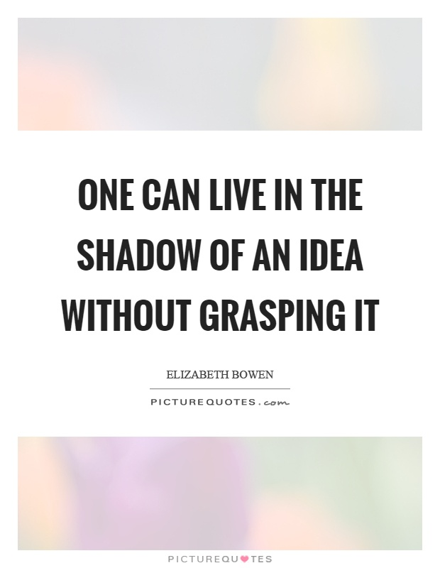 One can live in the shadow of an idea without grasping it Picture Quote #1