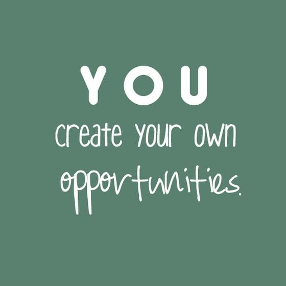 You create your own opportunities Picture Quote #1