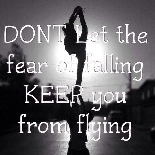 Don't let the fear of falling keep you from flying Picture Quote #1