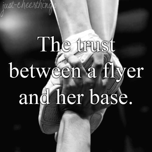 The trust between a flyer and her base Picture Quote #1