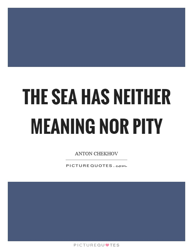 The sea has neither meaning nor pity Picture Quote #1