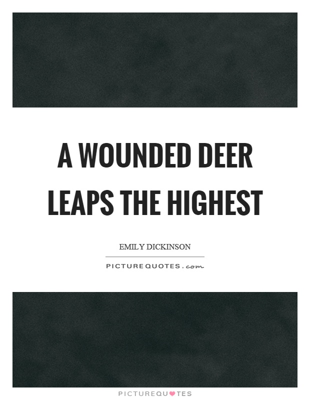 A wounded deer leaps the highest Picture Quote #1