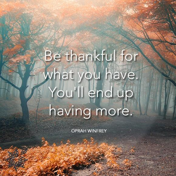 Be thankful for what you have; you'll end up having more. If you concentrate on what you don't have, you will never, ever have enough Picture Quote #2