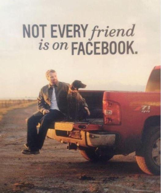 Not every friend is on Facebook Picture Quote #1