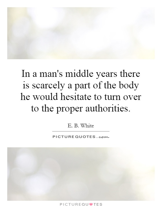 In a man s middle years there E.b. White Quotes