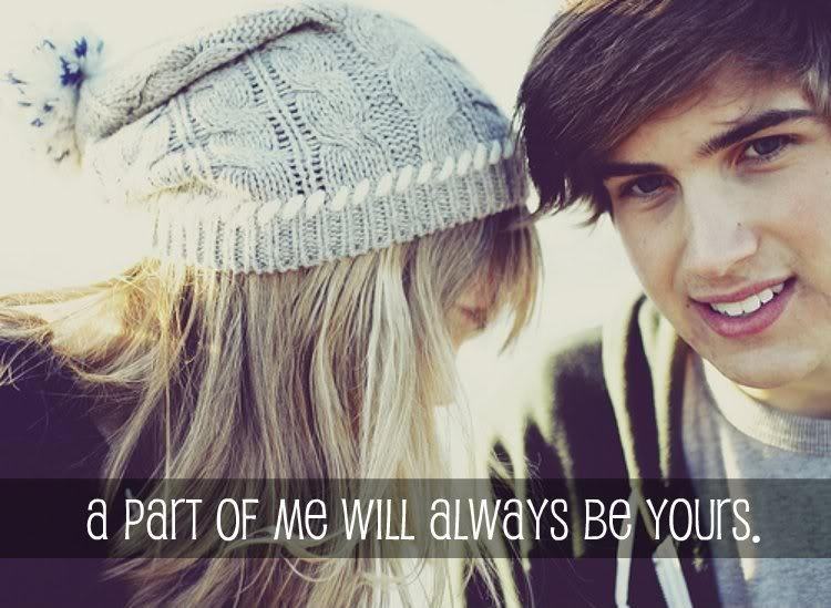 A part of me will always be yours Picture Quote #1