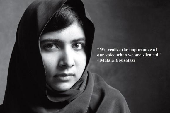 We realize the importance of our voices only when we are silenced Picture Quote #1