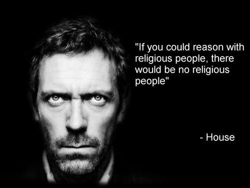 If you could reason with religious people, there would be no religious people Picture Quote #1