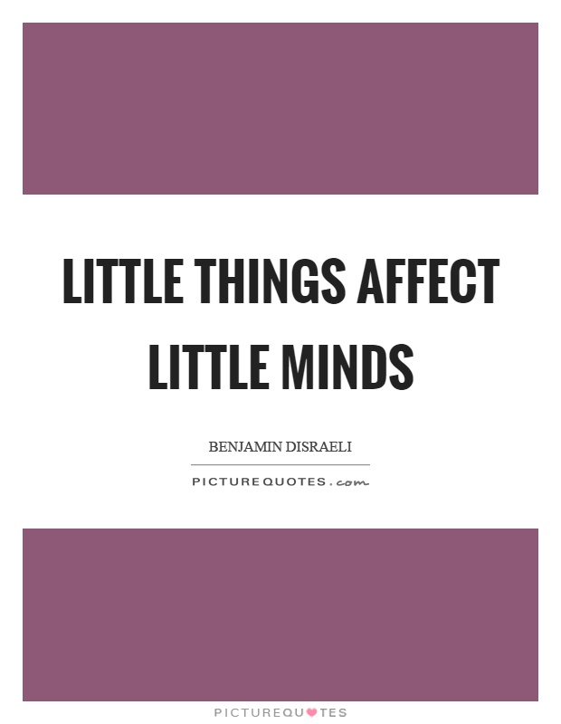 Little things affect little minds Picture Quote #1