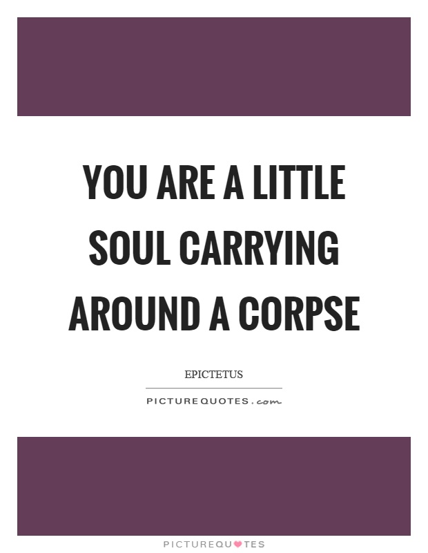 You are a little soul carrying around a corpse Picture Quote #1