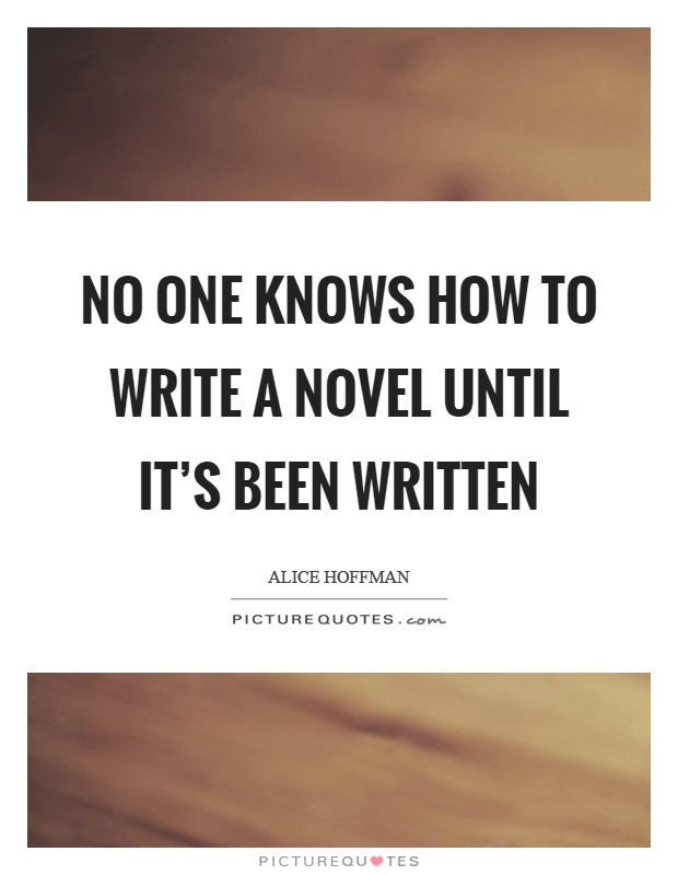 How to write no one