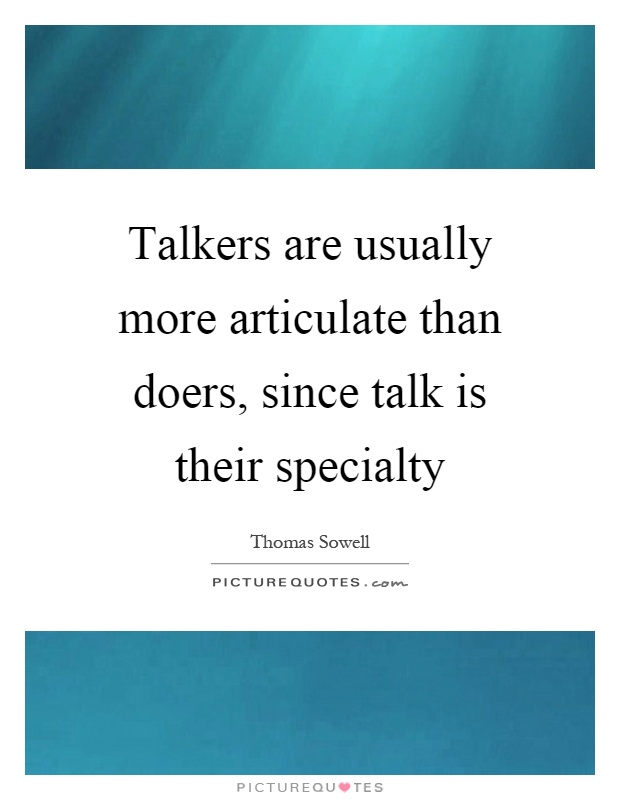 essay on great talkers are not great doers