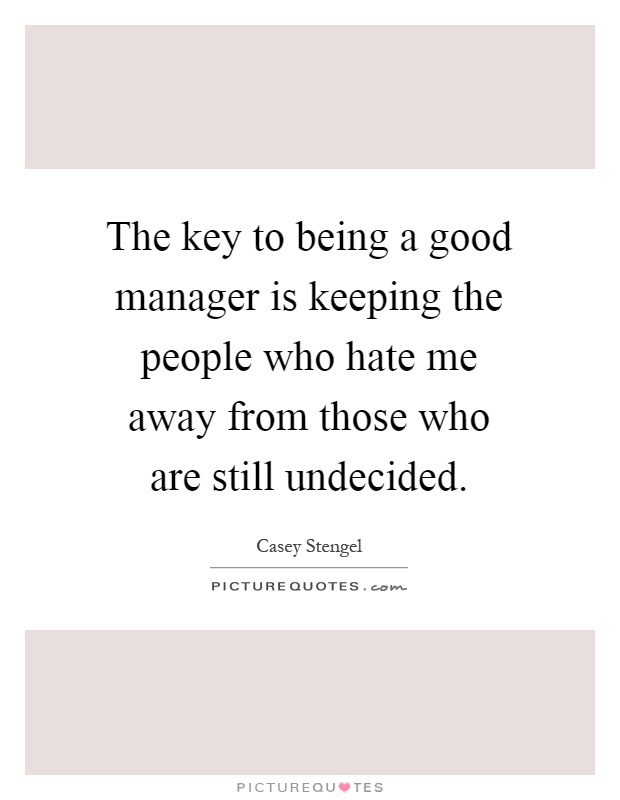 funny quotes about being a manager