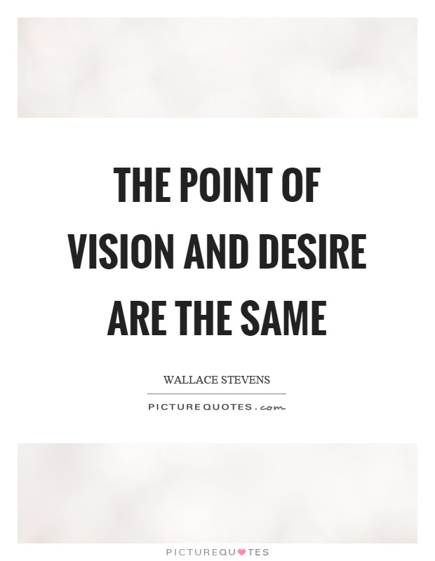 The point of vision and desire are the same Picture Quote #1