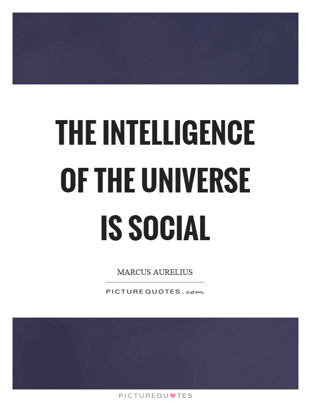 The intelligence of the universe is social Picture Quote #1
