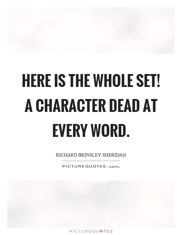 Here is the whole set! a character dead at every word Picture Quote #1