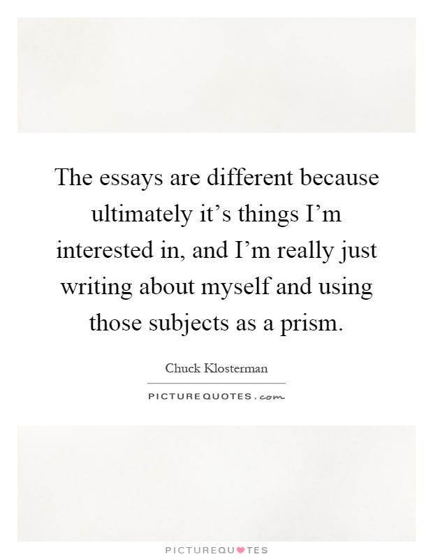 essay on i love myself because