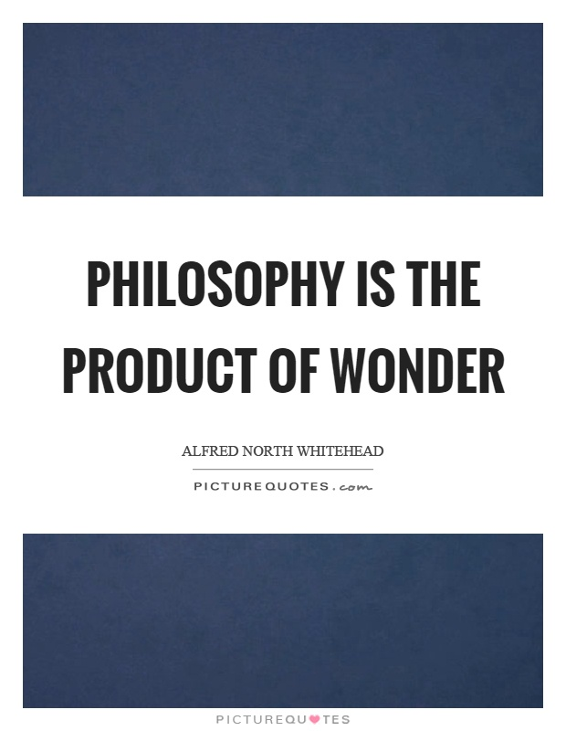 Philosophy is the product of wonder Picture Quote #1