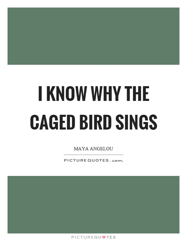 I know why the caged bird sings Picture Quote #1