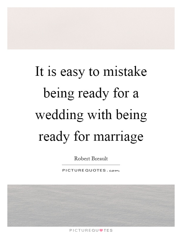 Marriage Is Easy