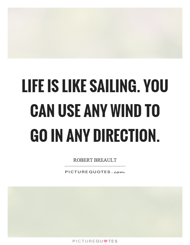 Life is like sailing. You can use any wind to go in any direction Picture Quote #1
