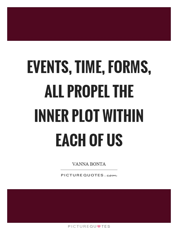 Events, time, forms, all propel the inner plot within each of us Picture Quote #1