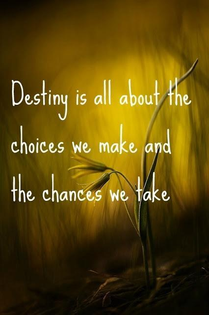 Destiny is all about the choices we make and the chances we take Picture Quote #1