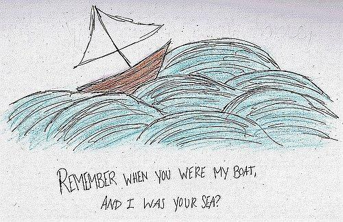 Remember when you were my boat and i was your sea Picture Quote #1