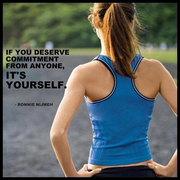 If you deserve commitment from anyone, it's yourself Picture Quote #1