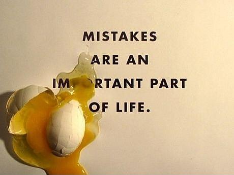 Mistakes are an important part of life Picture Quote #1