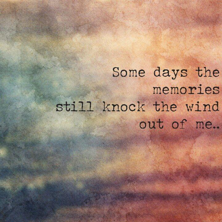 Some days the memories still knock the wind out of me Picture Quote #1