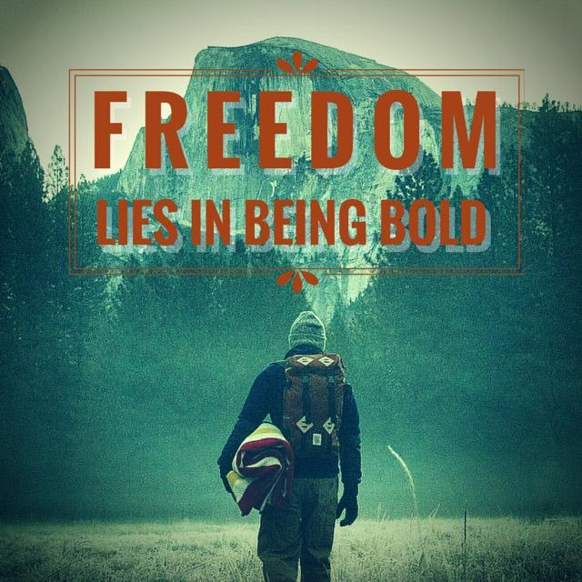 Freedom lies in being bold Picture Quote #2