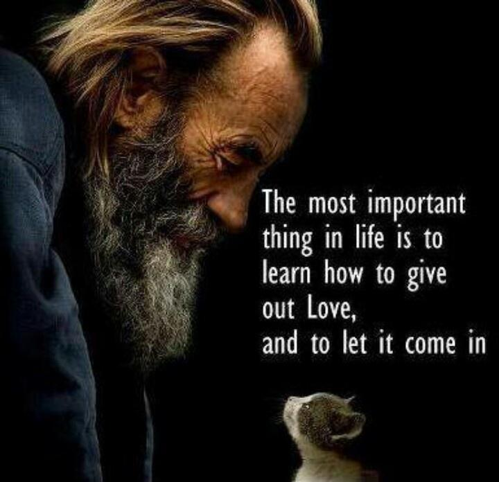 The most important thing in life is to learn how to give out love and to let it come in Picture Quote #1