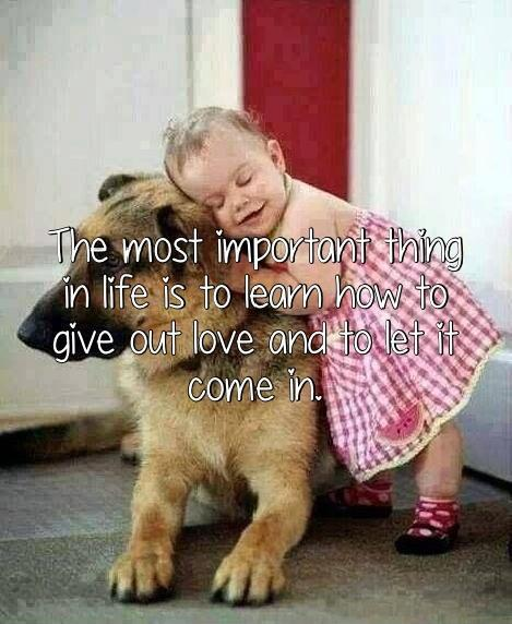 The most important thing in life is to learn how to give out love and to let it come in Picture Quote #2