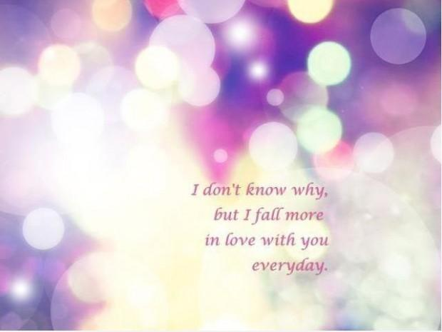 I don't know why, but i fall more in love with you everyday Picture Quote #1