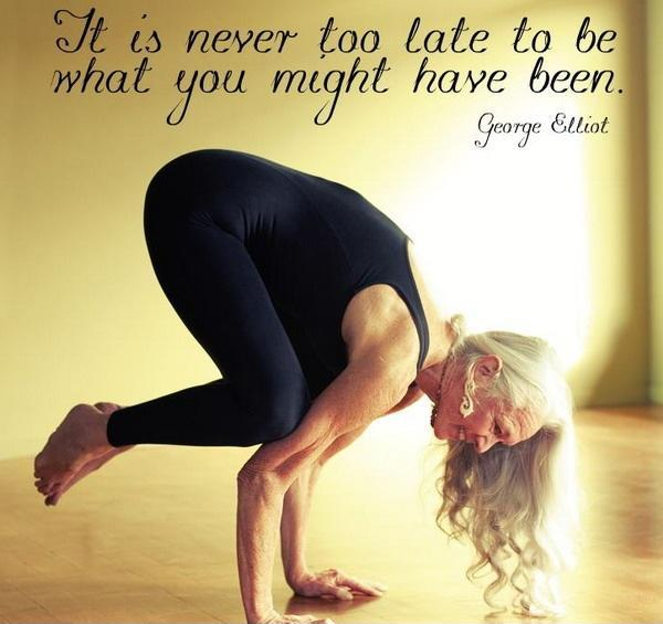 It's never too late to be what you might have been Picture Quote #1