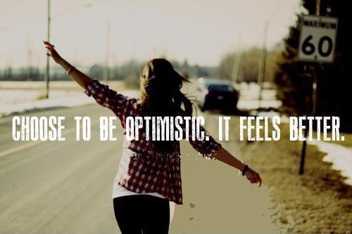 Choose to be optimistic, it feels better Picture Quote #1