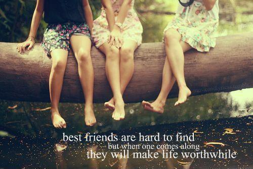 Best friends are hard to find but when one comes along they will make life worthwhile Picture Quote #1