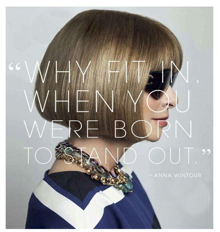 Why fit in when you were born to stand out Picture Quote #2