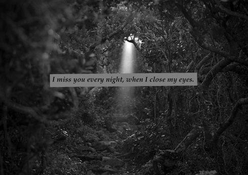 I miss you every night when I close my eyes Picture Quote #1