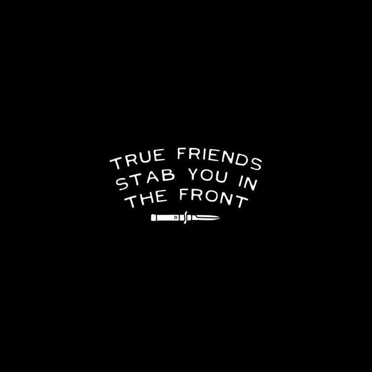 True friends stab you in the front Picture Quote #2