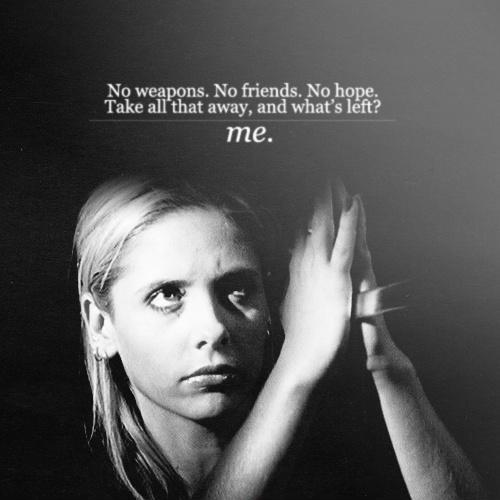 No weapons. No friends. No hope. Take all that away, and what's left? Me Picture Quote #1