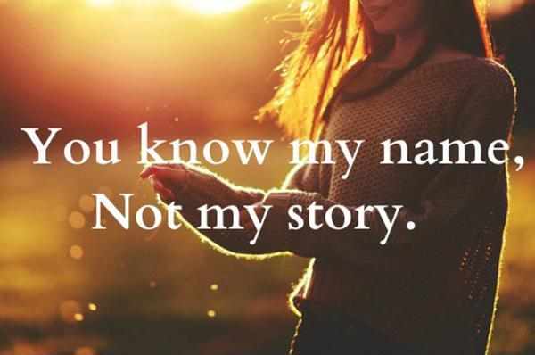You Know My Name. Not My Story