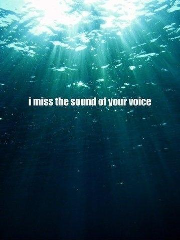I miss the sound of your voice Picture Quote #1